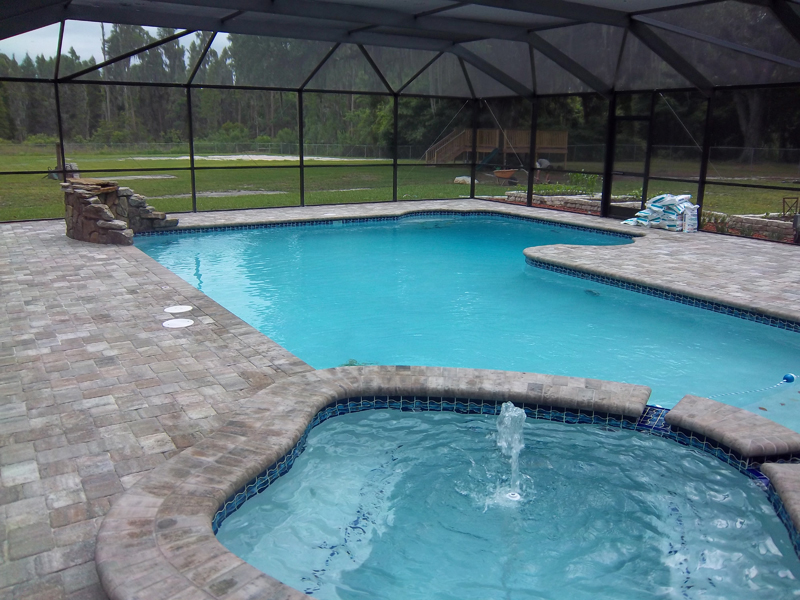 New swimming pools tropical pools and pavers for Inground pool and spa