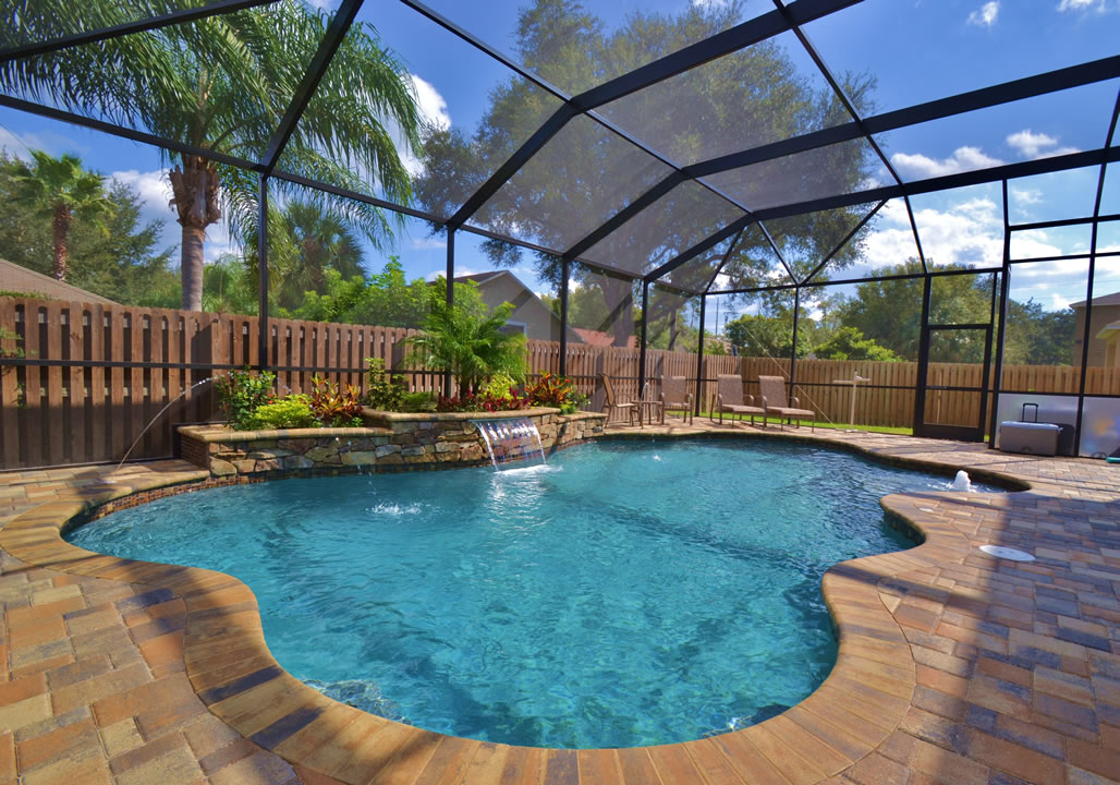 new swimming pools tropical pools and pavers. Black Bedroom Furniture Sets. Home Design Ideas