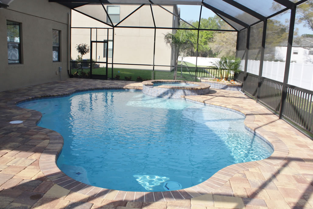 New swimming pools tropical pools and pavers for Latest swimming pool