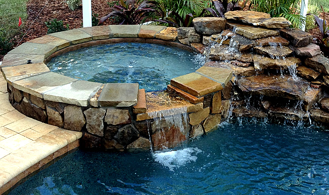 Tropical pools and pavers pool builders in florida for Spa builders