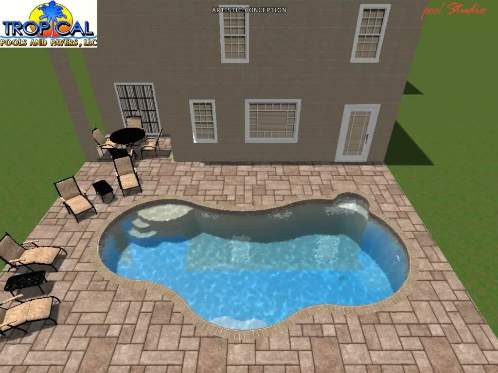 Professional 3d pool design tropical pools and pavers for Swimming pool design xls
