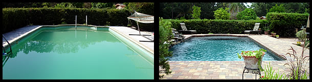 Swimming Pool Remodel Tropical Pools And Pavers