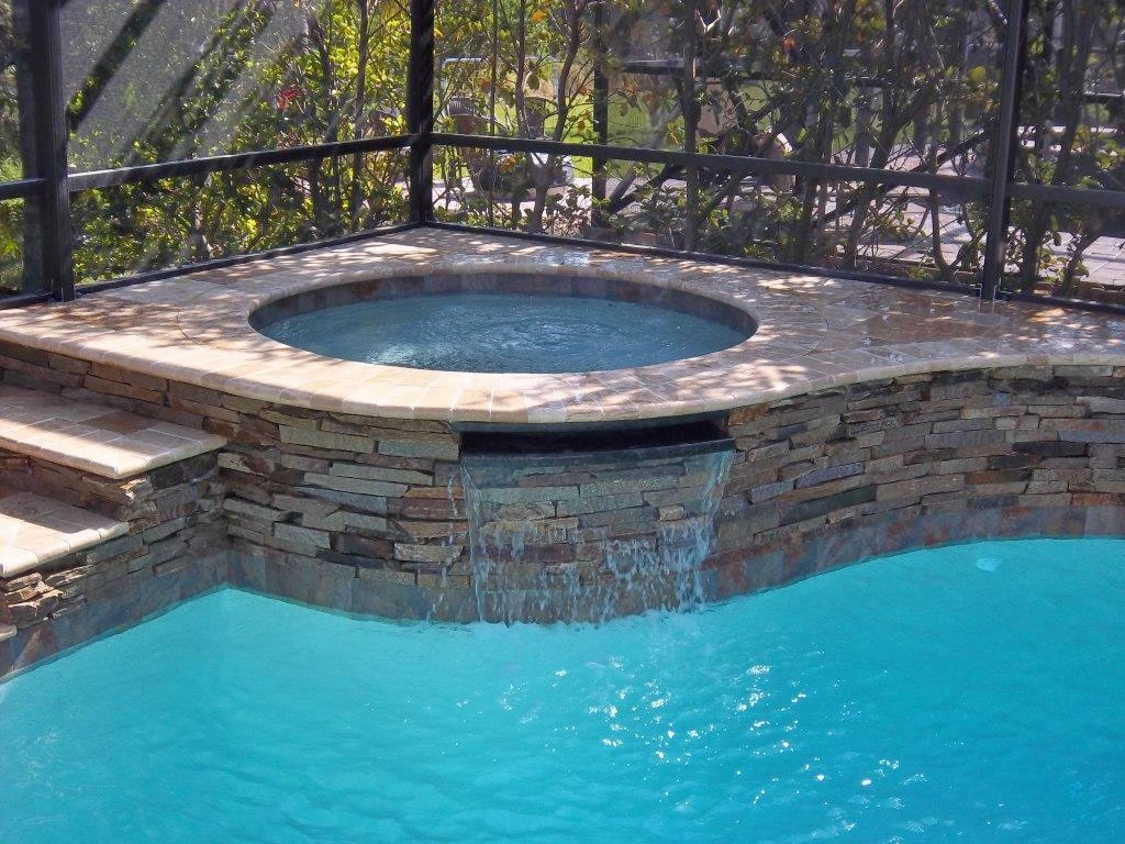 New spa construction tropical pools and pavers for Tropical pools