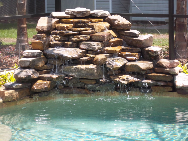 Waterfalls Amp Custom Options Tropical Pools And Pavers